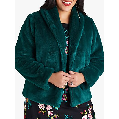 Yumi Curves Faux Fur Jacket