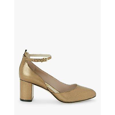 Boden Yasmin Leather Mid Heel Court Shoes, Bronze