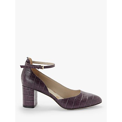 Boden Yasmin Leather Mid Heel Court Shoes