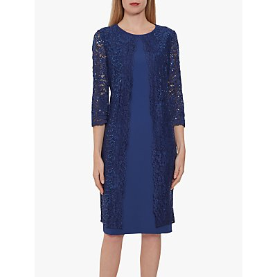 Gina Bacconi Farlyn Crepe Lace Dress