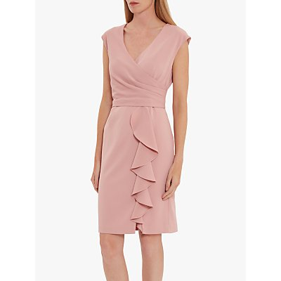 Gina Bacconi Inona Ruffle Dress, Soft Rose