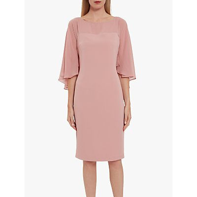Gina Bacconi Olivina Crepe Dress, Soft Pink