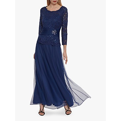 Gina Bacconi Itati Maxi Dress, Navy