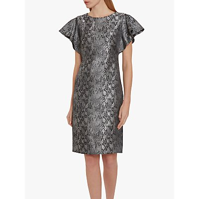 Gina Bacconi Joslyn Snake Dress, Multi