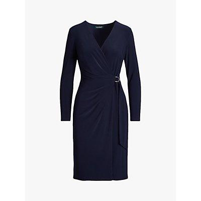 Lauren Ralph Lauren Casondra Long Sleeve Day Dress, Lighthouse Navy