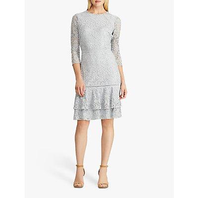 Lauren Ralph Lauren Halima Floral Lace Dress, Toile Blue/Black