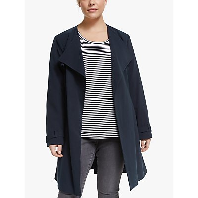 Lauren Ralph Lauren Curve Crepe Coat, Midnight