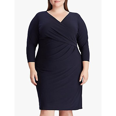 Lauren Ralph Lauren Curve Cleora Jersey Dress, Lighthouse Navy