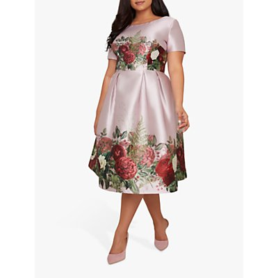 Chi Chi London Curve Tanzine Dress, Mink