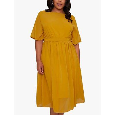 Chi Chi London Curve Amanya Midi Dress, Mustard