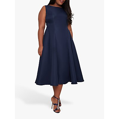 Chi Chi London Curve Anthea Dress, Navy