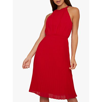 Chi Chi London Soren Midi Dress, Red