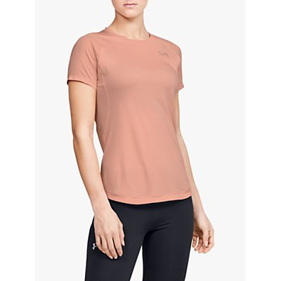 Under Armour Qualifier Iso-Chill Short Sleeve Running Top, Pink