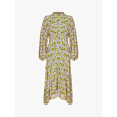 Ghost Anais Dress, Poppy Floral Lime