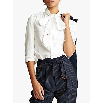 Polo Ralph Lauren Tie Neck Shirt, White