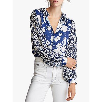Polo Ralph Lauren Floral Print Blouse, Navy/Multi