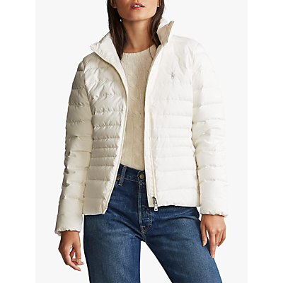Polo Ralph Lauren Funnel Neck Down Fill Jacket, Warm White
