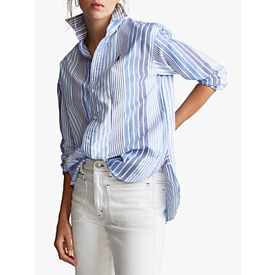 Polo Ralph Lauren Stripe Shirt, Run On Blue