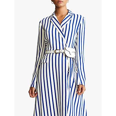 Polo Ralph Lauren Gian Stripe Wrap Dress, Collection Blue/White