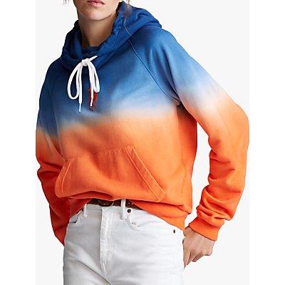Polo Ralph Lauren Ombre Fleece Hoodie, Navy/Orange