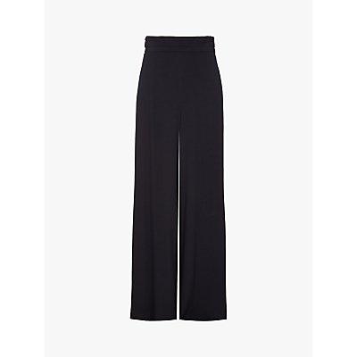 Ghost Eleanor Satin Crepe Trouser, Black
