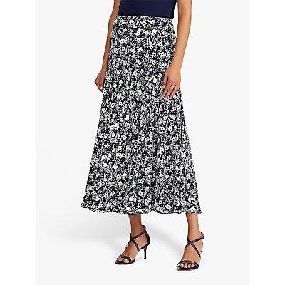 Lauren Ralph Lauren Varizi A-Line Skirt, Lauren Navy/Pale Cream