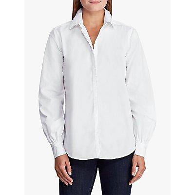 Lauren Ralph Lauren Yuana Long Sleeve Shirt, White