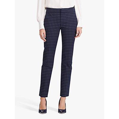 Lauren Ralph Lauren Polka Dot Stretch Twill Trousers, Lauren Navy/Silk White
