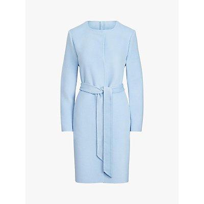 Lauren Ralph Lauren Wool Blend Belted Coat, Light Blue