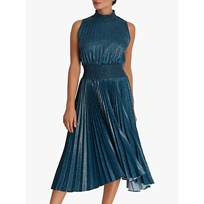 Fenn Wright Manson Amanda Holden Collection Nicola Pleated Dress, Ink Print