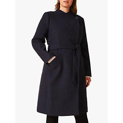 Studio 8 Susie Stand Up Collared Coat, Navy