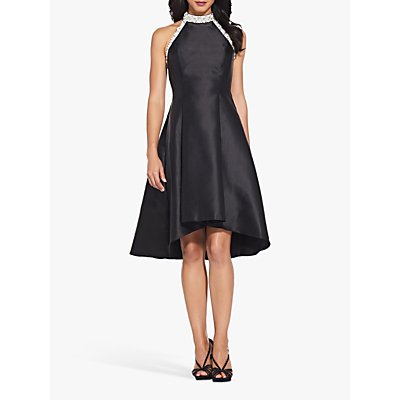 Adrianna Papell Beaded Hi Low Dress, Black