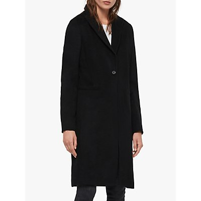 AllSaints Elora Coat, Black