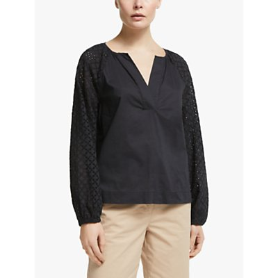 John Lewis & Partners Broderie Tunic Top