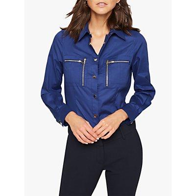 Damsel in a Dress Rearden Zip Shirt, Navy