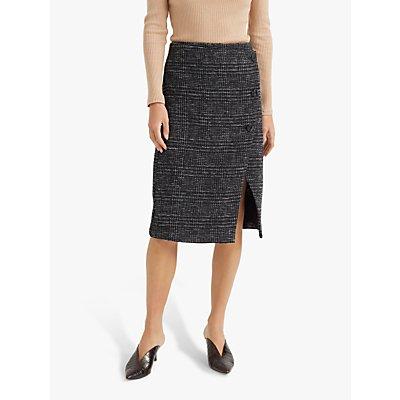 Club Monaco Cutaway Pencil Skirt, Black/Multi