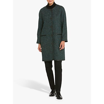 Helen McAlinden Fern Collarless Coat, Teal