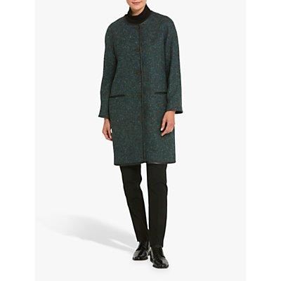 Helen McAlinden Fern Collarless Coat, Teal