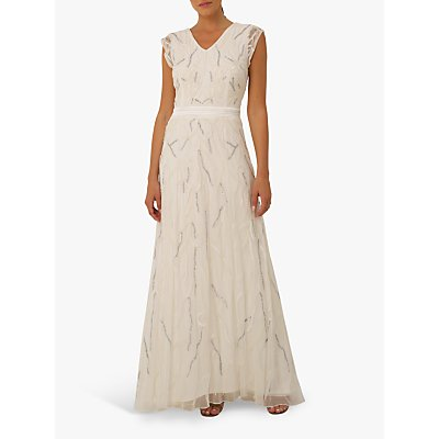 Raishma Eden Bead Embellishment Gown, Ivory