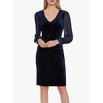 Gina Bacconi Drita Velvet Chiffon Sleeve Dress