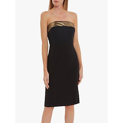 Gina Bacconi Gracella Chiffon Dress, Black/Gold