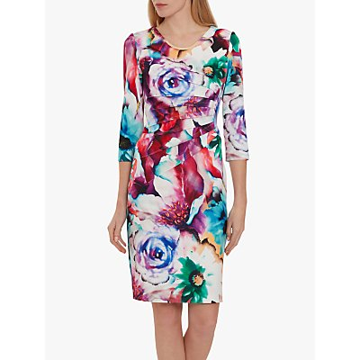 Gina Bacconi Lareina Floral Dress, Multi