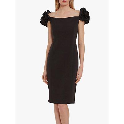 Gina Bacconi Bretta Ruffle Detail Crepe Jersey Dress