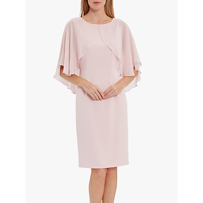 Gina Bacconi Otelia Crepe Chiffon Cape Dress