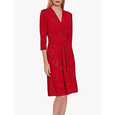 Gina Bacconi Miranda Jersey Dress, Red