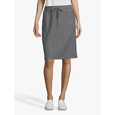 Betty Barclay Sporty Tweed Effect Jersey Skirt, Black/Grey