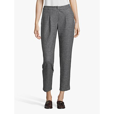 Betty Barclay Tweed Effect Jersey Trousers, Black/Grey