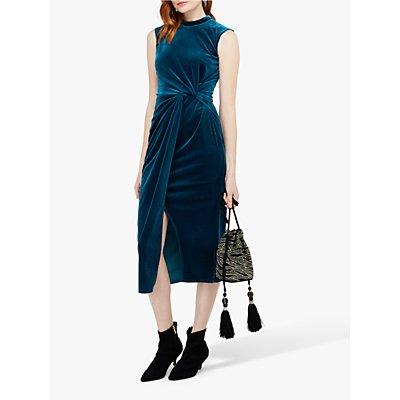 Monsoon Shelby Velvet Twist Dress