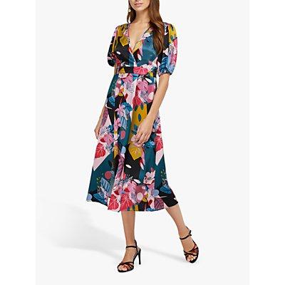 Monsoon Rhi Rhi Print Tea Dress, Teal