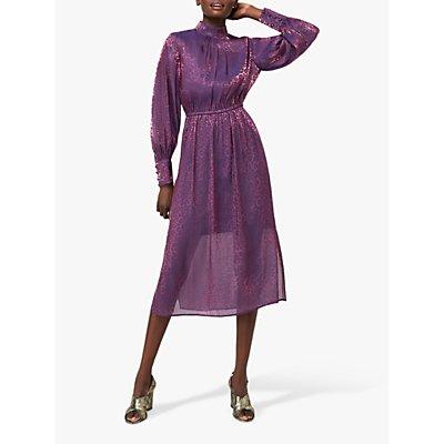 Monsoon Phi Phi Animal Print Dress, Purple